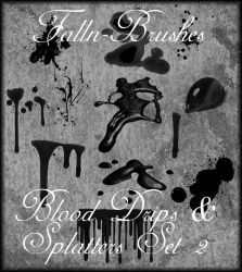 Blood and Splatter Brushes 2 by Falln-Stock