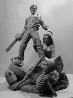 Army of Darkness 10th Anniversary statue by GabrielxMarquez