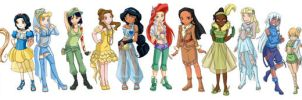 Disney girls by Naruto-No-Dobe