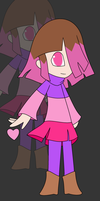 Glitchtale - Betty The Pink Soul by xXkerrysweetXx