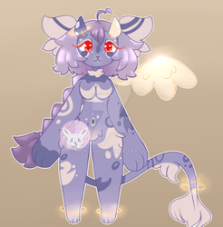 Lavendar Anthro Adopt Auction [CLOSED] by Xophair