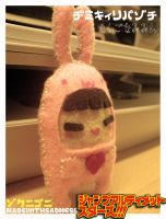 chibi in pink bunny suit by madewithsadness