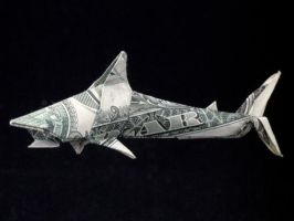 One Dollar Shark by orudorumagi11