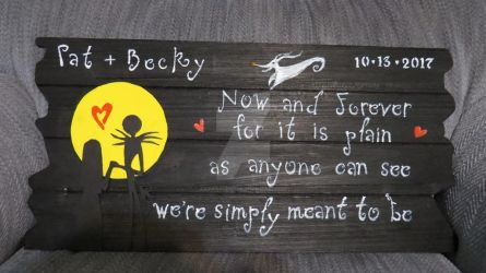 Wedding Sign Completed by Kya-Valentine
