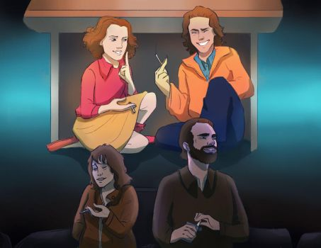 Hopper and Joyce by TOMEart
