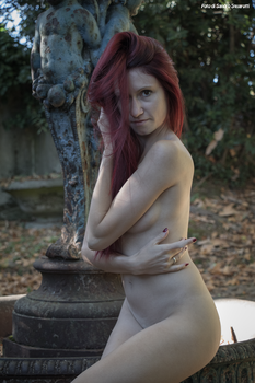 RedClo nude near a ruined fountain 03 by Darthsandr