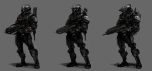 Soldier Concepts by VincentiusMatthew
