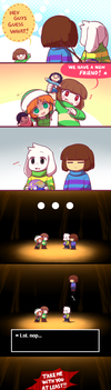 New friend!/ Undertale by Ransaros