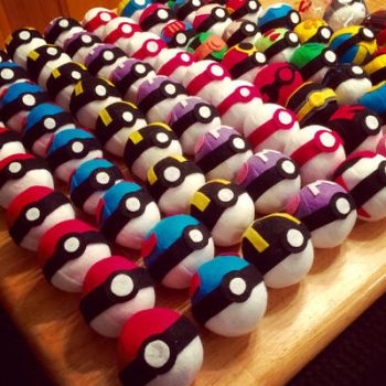 Custom Pokemon Pokeball Plush by hollystarlightanime