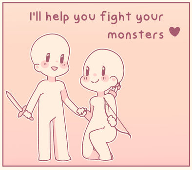 i'll help you fight your monsters by kouriiko