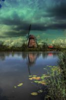 Ducth windmill by carlahoon