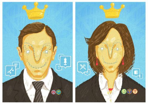 foursquare mayors by Zele-Rebus