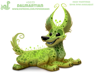 Daily Paint #2072. Dalmartian by Cryptid-Creations