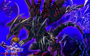 Red-Eyes Ultimate Dragon Ver.2 Devpro Background by Maxxwell1