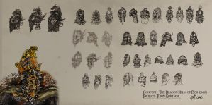 Dwarven Helmets and Masks by Artigas