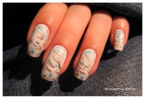 Winter-3 -nail-art by Shangova