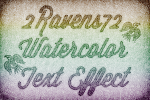 Watercolor Text Tutorial Project by kwhammes