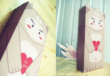 Lovely Wolf Box - Printable by dolosan