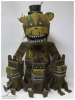 FNAF 4 Nightmare Freddy papercraft by Adogopaper