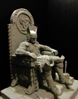 Thor statue grey by mycsculptures
