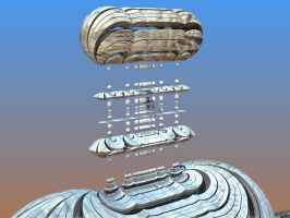 Dirigible to Pamonk, Happy birthday! by singingwithfractals