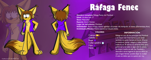 Rafaga Fenec Reference by RociDrawings97