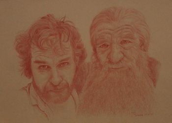 Peter and Ian, the Hobbit by Rebeltje