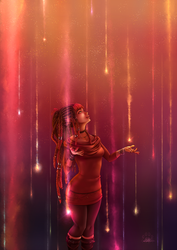 Astral Girls : Meteor Shower by Lily-Fu