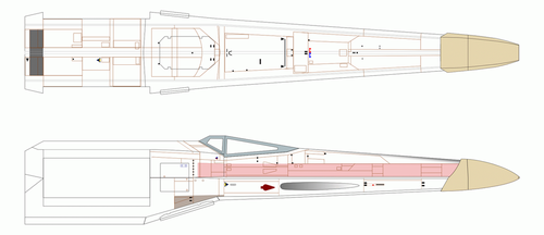 X-Wing blueprint wip by imclod