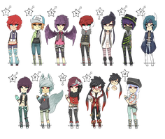 Set Price :: 100-200 Point Adoptables  -TAKEN- by Voodoo-Elf