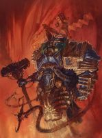 Iron Warrior War Smith Oil Painting by Art--Tool