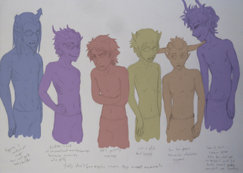 Male Troll Body Types by Night-of-Void