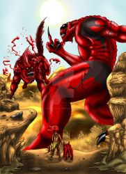 Marez vs. Deadpool R' Us pt.1 by RenDragonClaw