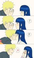A Little Kiss - NaruHina by StrawberryHini