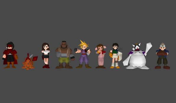 FF7 main character pack by Lopieloo