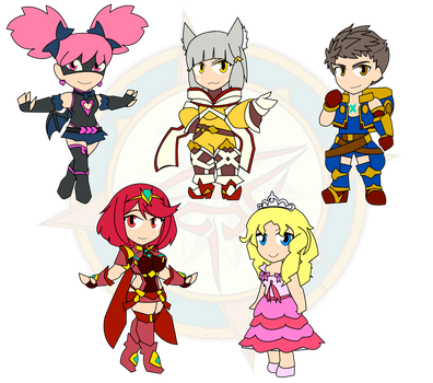 Assorted Chibis - Xenoblade Incoming by Dragon-FangX