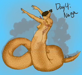 Monster Girls Day 4: Naga by Lucianette