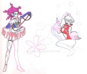 Sketchbook Scan : Lemures : Sailor Moon : by Dark-elfa