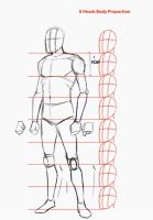 TUTORIAL HOW TO DRAW THE HUMAN BODY IN 3/4 VIEW by ARTOFJUSTAMAN
