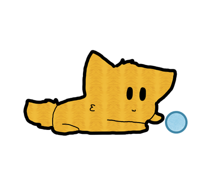 Doodle 2 Cat Playing With Yarn by xXBlueberryKitXx