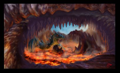 Lava Dragon's Lair by radioactiveroach
