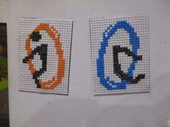 Portal Cross stitch Magents by DJChocolate-Lover