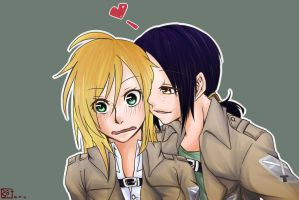 Christa and Ymir by Velger96
