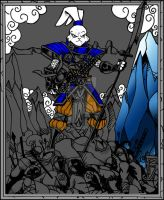 Usagi Yojimbo inks color wip1 by BigRob1031