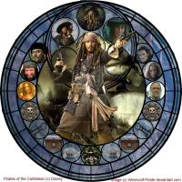 Jack Sparrow Kingdom Hearts Stained Glass by Werewolf-Pirate