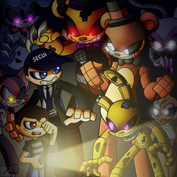 'All the Five Nights' Cover Art [OUT NOW] by Grimmstein