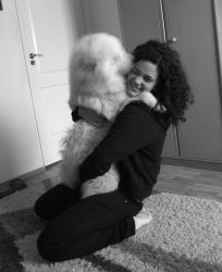 samoyed love, hug by bubumo