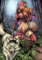 Red Riding Hood2 colored by Javilaparra