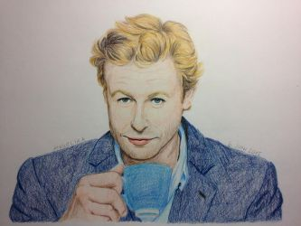 Simon Baker alias The Mentalist by lilangie19