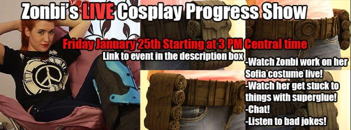 Zonbi's Live Cosplay Progress Show by PaleFunnyGhost